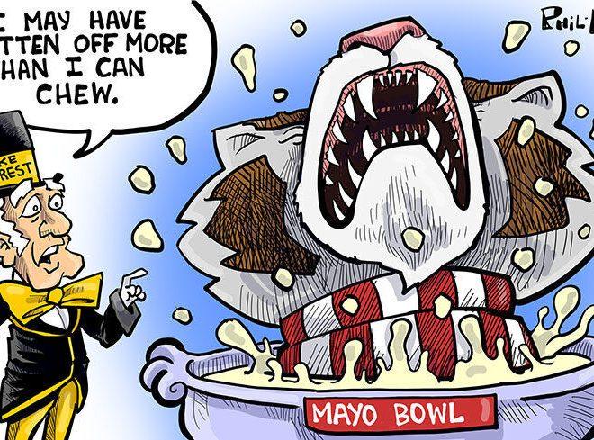 BOWL POOL CONTINUES AT NOON WITH MAYO BOWL